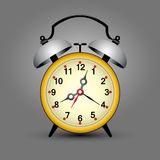 Old yellow clock Royalty Free Stock Photo
