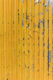 Old yellow corrugated iron background Royalty Free Stock Photography