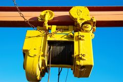 Old yellow crab Stock Images