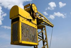 Old yellow crane Royalty Free Stock Photography