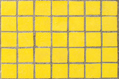 Old yellow dirty mosaic Royalty Free Stock Image