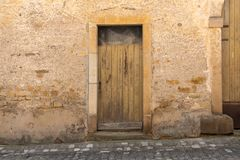 Old Yellow Door on Old Building royalty free stock image