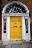 Old Yellow Dublin Door Stock Photos