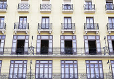 Old yellow facade Stock Images