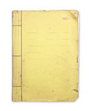 Old yellow folder. Old yellow folder isolated clipping path Royalty Free Stock Photo