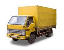 Old Yellow freight machine Royalty Free Stock Image