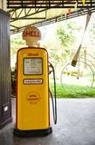 Old Yellow gas pumps royalty free stock photo