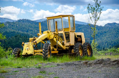 Old Yellow grader Royalty Free Stock Image