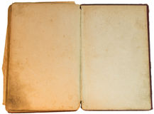 Old yellow hand-written book isolated Royalty Free Stock Photo