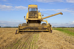 Old yellow harvester 2 Royalty Free Stock Photo