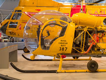 Old Yellow Helicopter Royalty Free Stock Photos