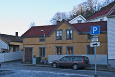 Old yellow house in Halden. Stock Image