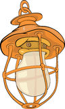 Old yellow lamp Royalty Free Stock Photography