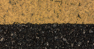 Old yellow line on road background. Royalty Free Stock Photo