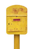 Old yellow mailbox Royalty Free Stock Images