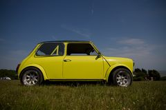Old yellow Mini Stock Image