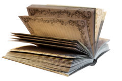 Old yellow notebook Royalty Free Stock Images