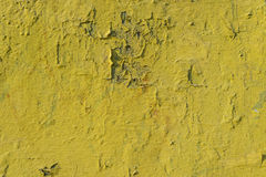 Old yellow paint texture Stock Image