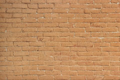 The old yellow painted brick wall. The Background with old yellow painted brick wall Royalty Free Stock Photography