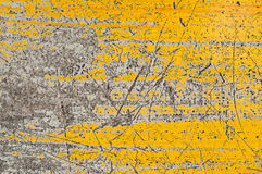 Old yellow painted wall Stock Photo