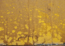 Old Yellow Painted Wood Royalty Free Stock Images