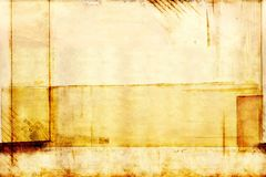 Old yellow paper with abstract pattern royalty free stock images