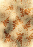 Old yellow paper background with scratches Royalty Free Stock Photos