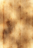 Old yellow paper background with wooden texture Royalty Free Stock Images