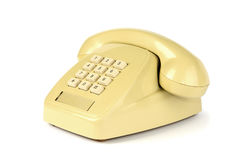 Old yellow phone Royalty Free Stock Photo