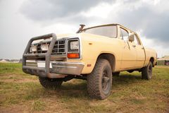 Old yellow pick-up Royalty Free Stock Photos