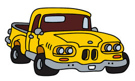 Old yellow pick-up Stock Photo