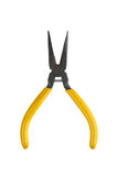 Old yellow Pliers Stock Photo