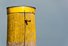 Old yellow pole Royalty Free Stock Photos