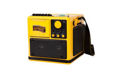 Old yellow radio Stock Photography