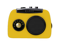 Old yellow radio Royalty Free Stock Photography