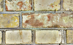 Old yellow red brick wall background or texture. Old yellow red brick wall background or texture stock images