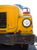 Old Yellow School Bus with Chipped Paint Royalty Free Stock Photography