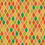 Old Yellow Seamless Pattern with Simlple Rhomb Royalty Free Stock Photo