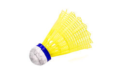 Old yellow shuttlecock Royalty Free Stock Image