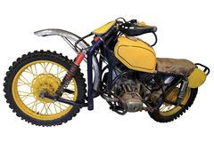 Old yellow sport bike Royalty Free Stock Images
