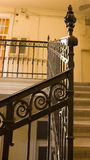 Old yellow staircase. A photo depicting a yellow painted staircase Royalty Free Stock Photography