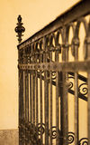 Old yellow staircase. A photo depicting a yellow painted staircase Stock Image
