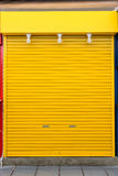 Old yellow steel door Royalty Free Stock Photography