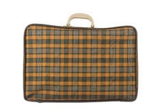 Old yellow suitcase Royalty Free Stock Photo