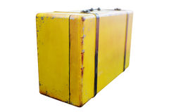 Old yellow suitcase Royalty Free Stock Images
