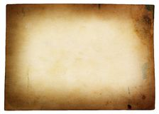 Old yellow textured paper Stock Images
