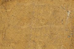 Old yellow textures wall background. Perfect background with space.  royalty free stock image