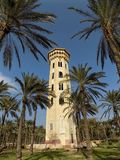 The old yellow tower. Was reserved for guests to see the main park but was later closed Royalty Free Stock Photo