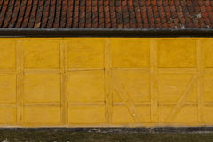 Wall. Old yellow town house wall Stock Photo