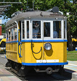 Old yellow tram Royalty Free Stock Image
